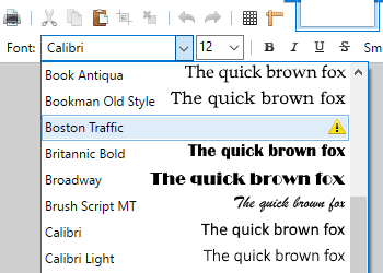 Font files problems in Windows 10 app - Troubleshooting